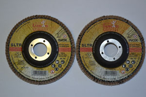 Flapper discs - 115mm diameter - 60grit and 80 grit